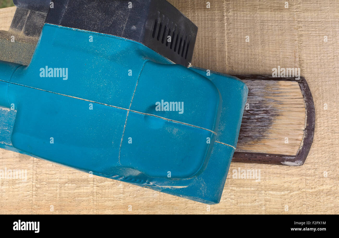 Electric Belt Sander Power Tool - Stock Image
