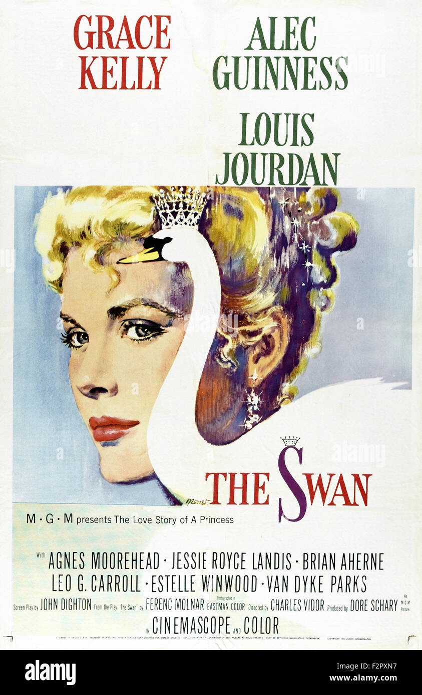 Swan, The (1956) - Movie Poster - Stock Image