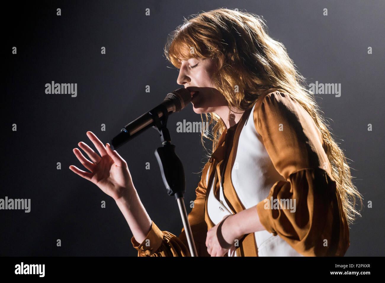 Florence and the Machine - Live Performance - Alexandra Palace - London Stock Photo