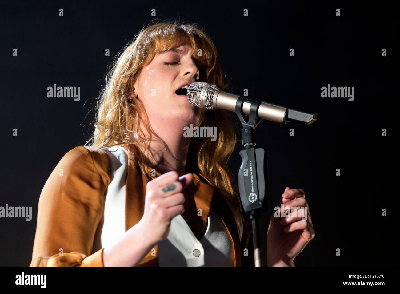 Florence and the Machine - Live Performance - Alexandra Palace - London Stock Photo