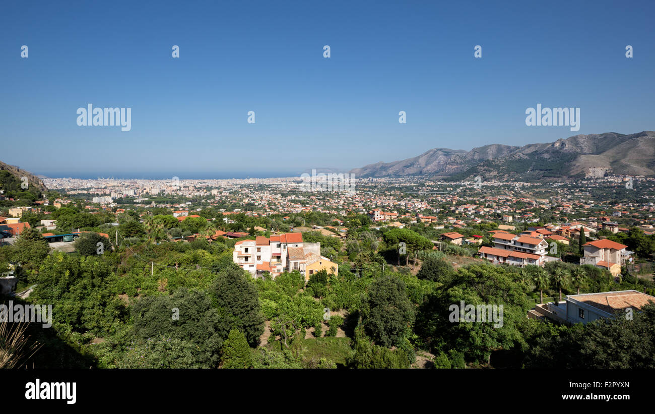 Palermo (Italy) - View of Conca d'Oro - Stock Image
