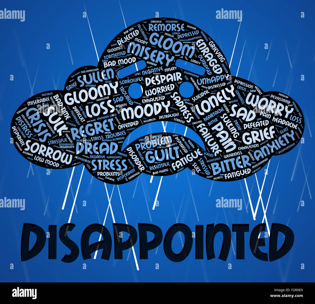 Disappointment Word Meaning Cast Down Stock Photos
