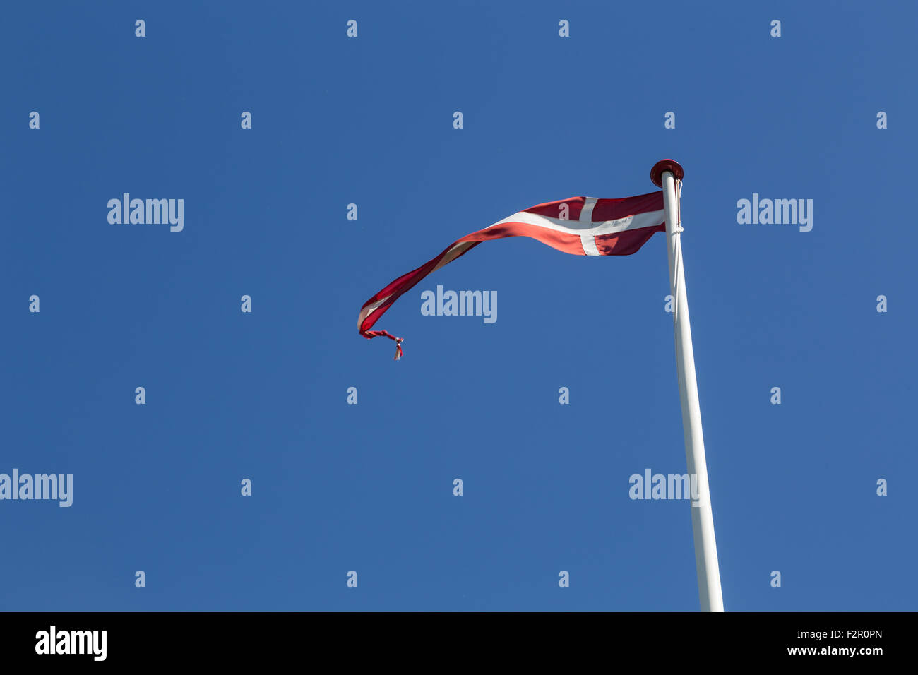 Photograph of a danish vimpel, a long and thin flag. - Stock Image
