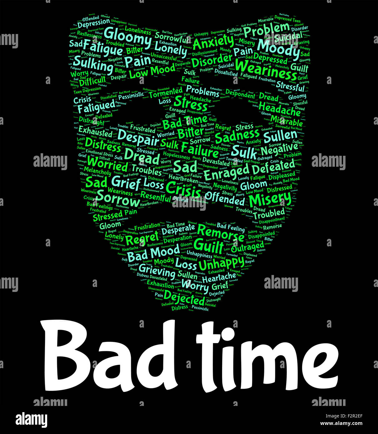 Bad Time Meaning Hard Times And Misery Stock Photo Alamy