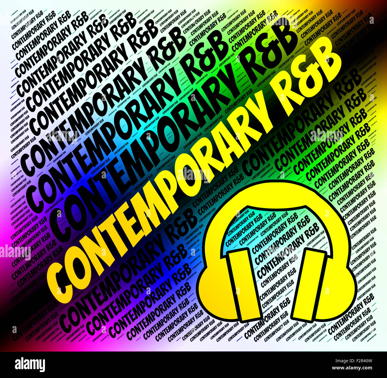 Contemporary Rb Indicating Rhythm And Blues And Modern Day
