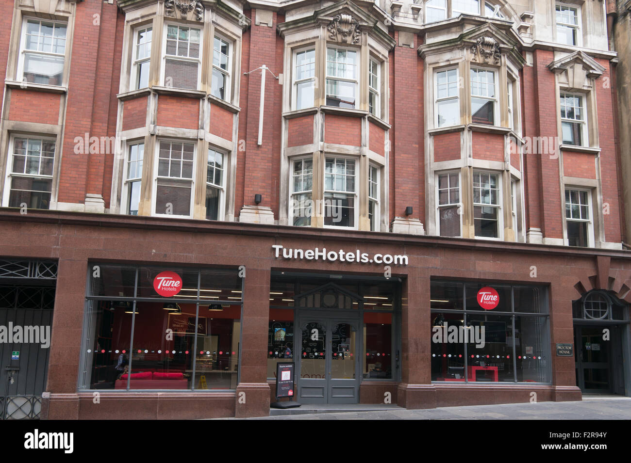 Tune Hotel, Newcastle-upon-Tyne, north east England, UK - Stock Image