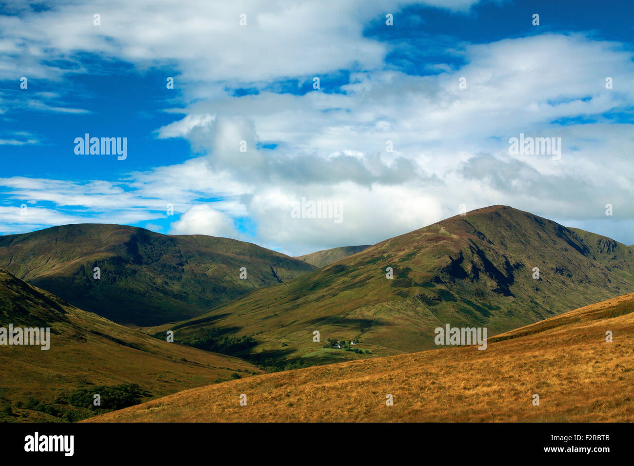 Glen Luss and the Luss Hills from Beinn Dubh, Loch Lomond and the Trossachs National Park - Stock Image