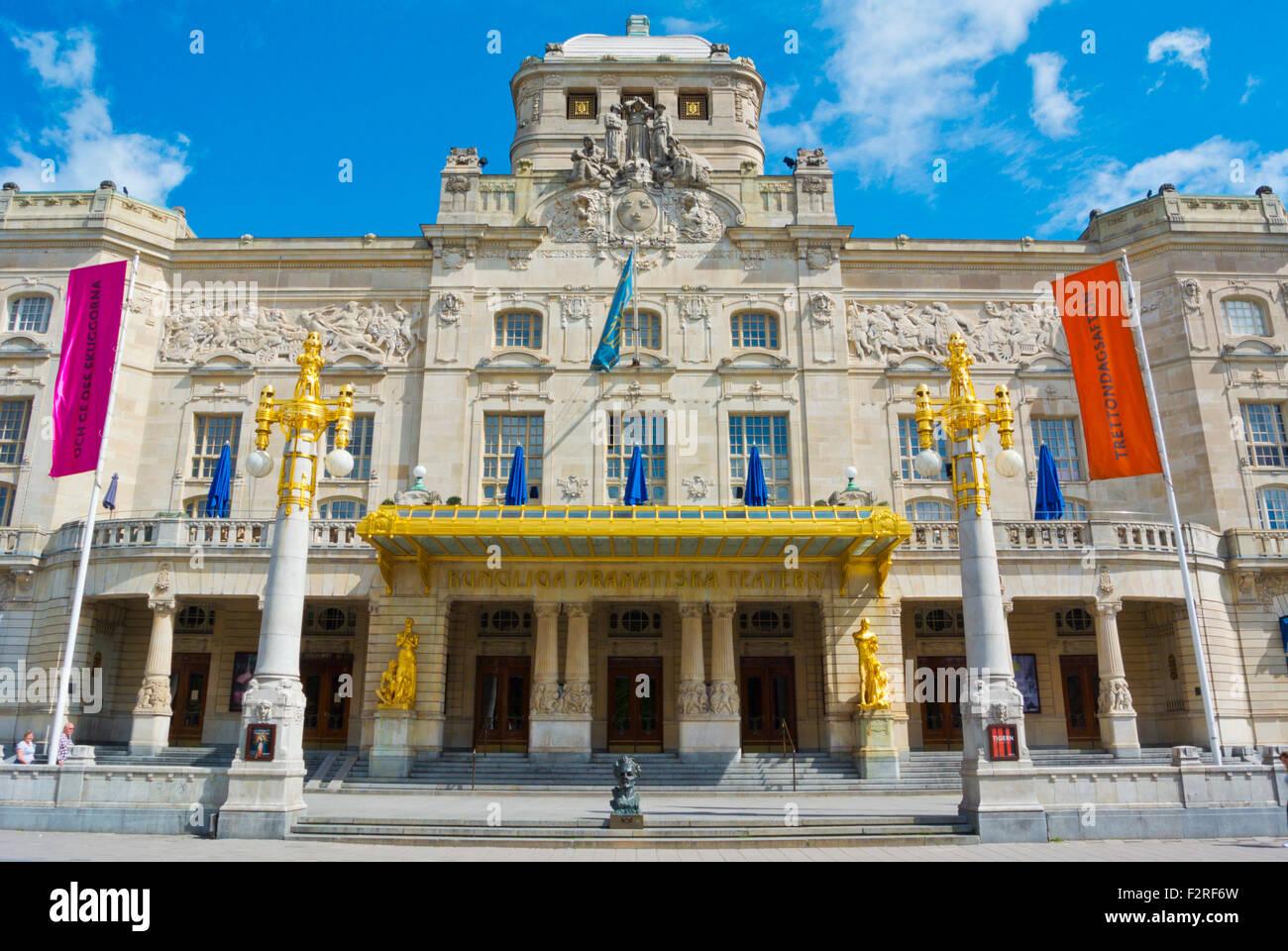 Dramaten, Kungliga Dramatiska Teatern, Royal Drama Theatre, Nybroplan, Östermalm, Stockholm, Sweden - Stock Image