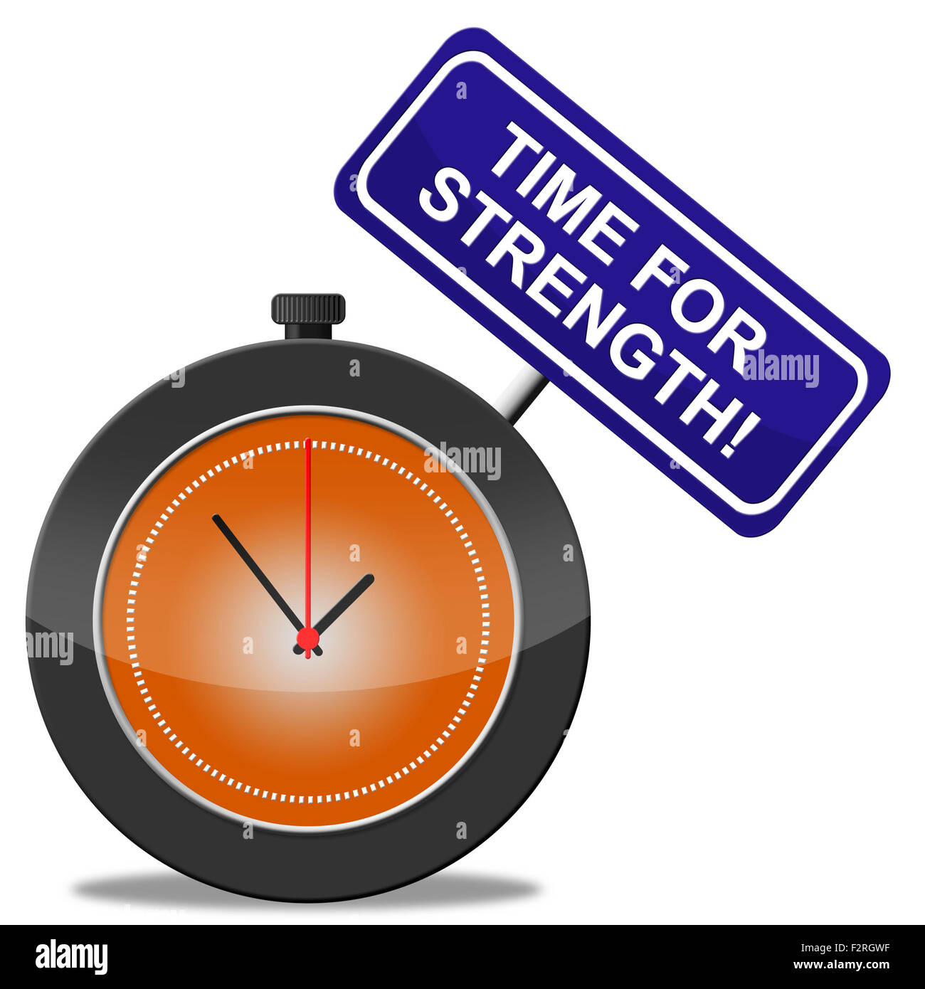 Time For Strength Meaning Vigour Muscle And Strengthen - Stock Image