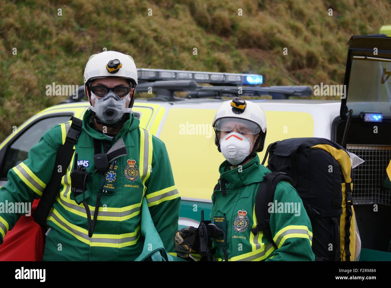 Hazardous Area Response Team at disaster zone, HART Team - Stock Image