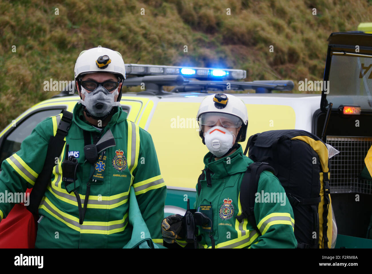 Hazardous Area Response Team at disaster zone, HART Team - Stock Image