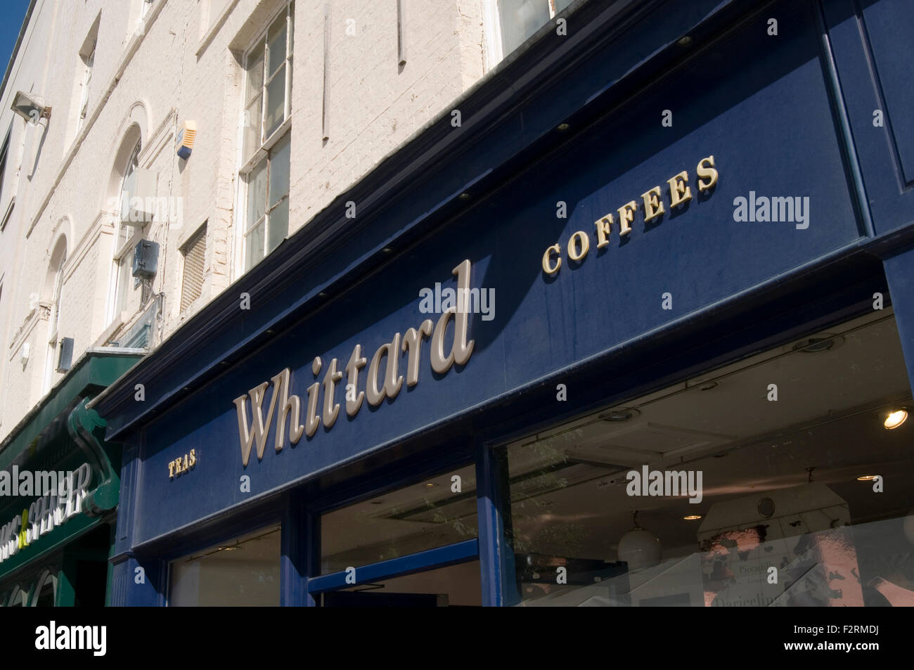 whittard whittards tea and coffee shops shop - Stock Image
