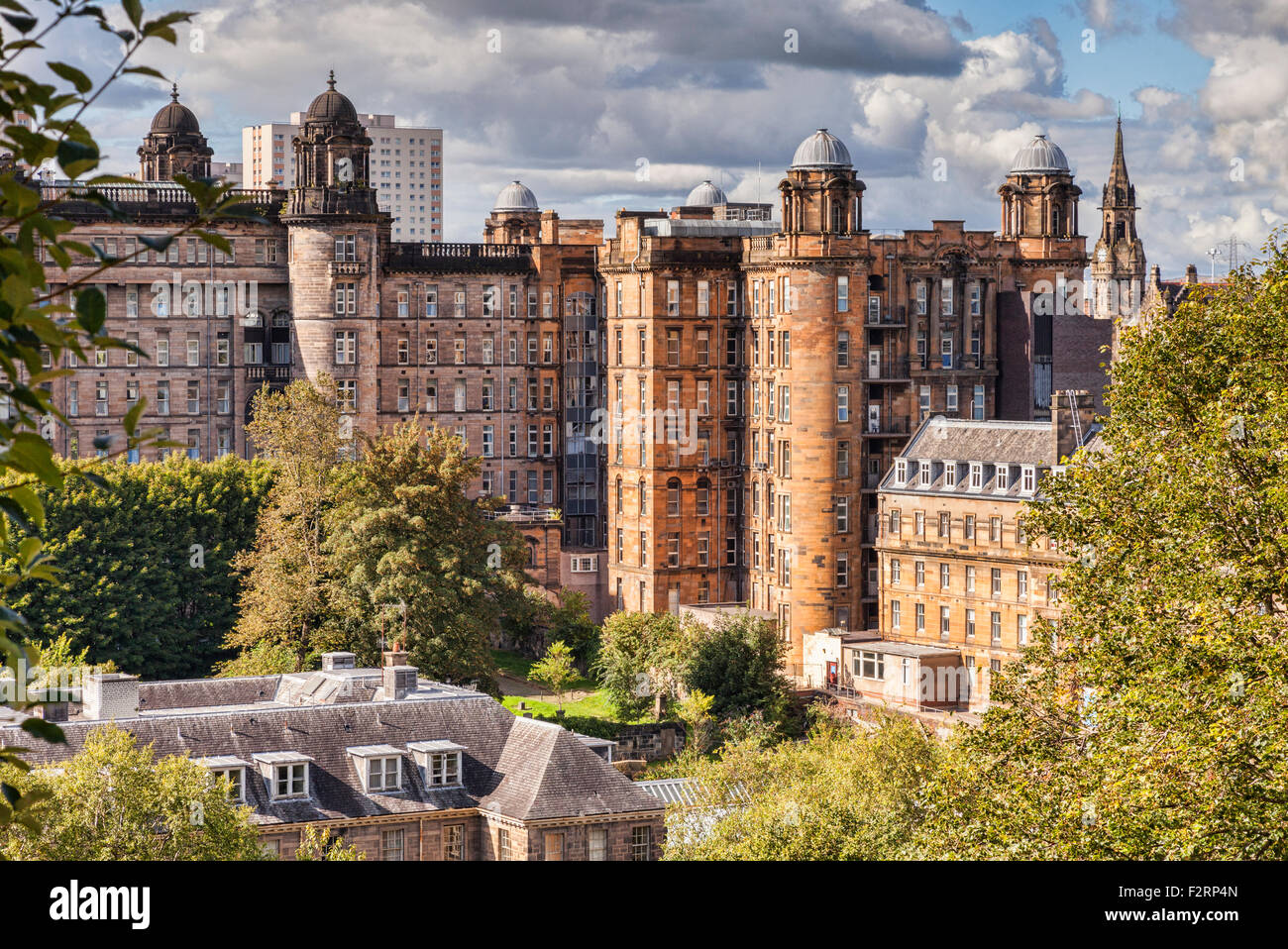Glasgow Royal Infirmary, designed by Robert and James Adam, Glasgow, Scotland, UK. - Stock Image