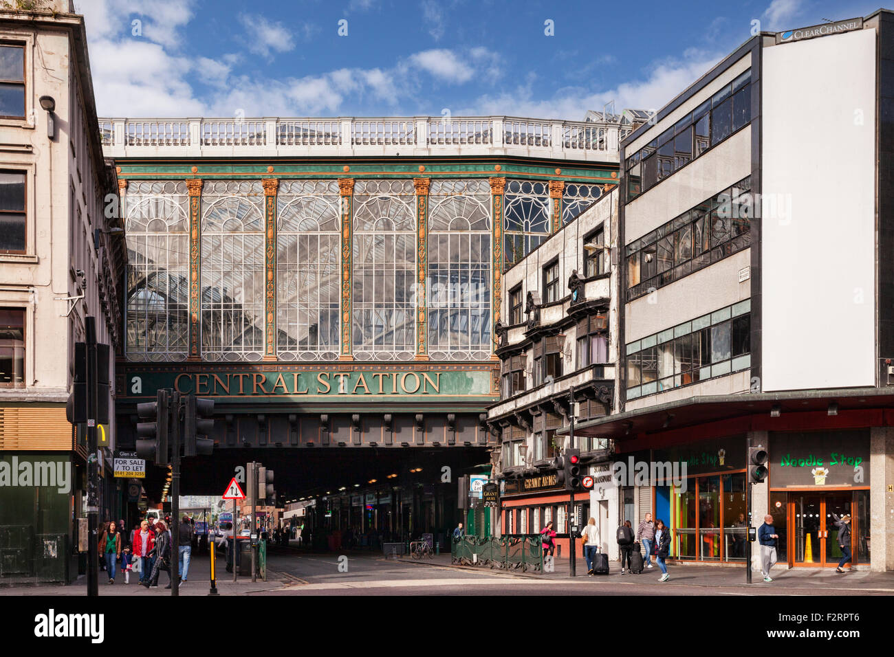 Glasgow Central Station Bridge, which carries the platforms of Glasgow Central Station across Argyle Street, known - Stock Image