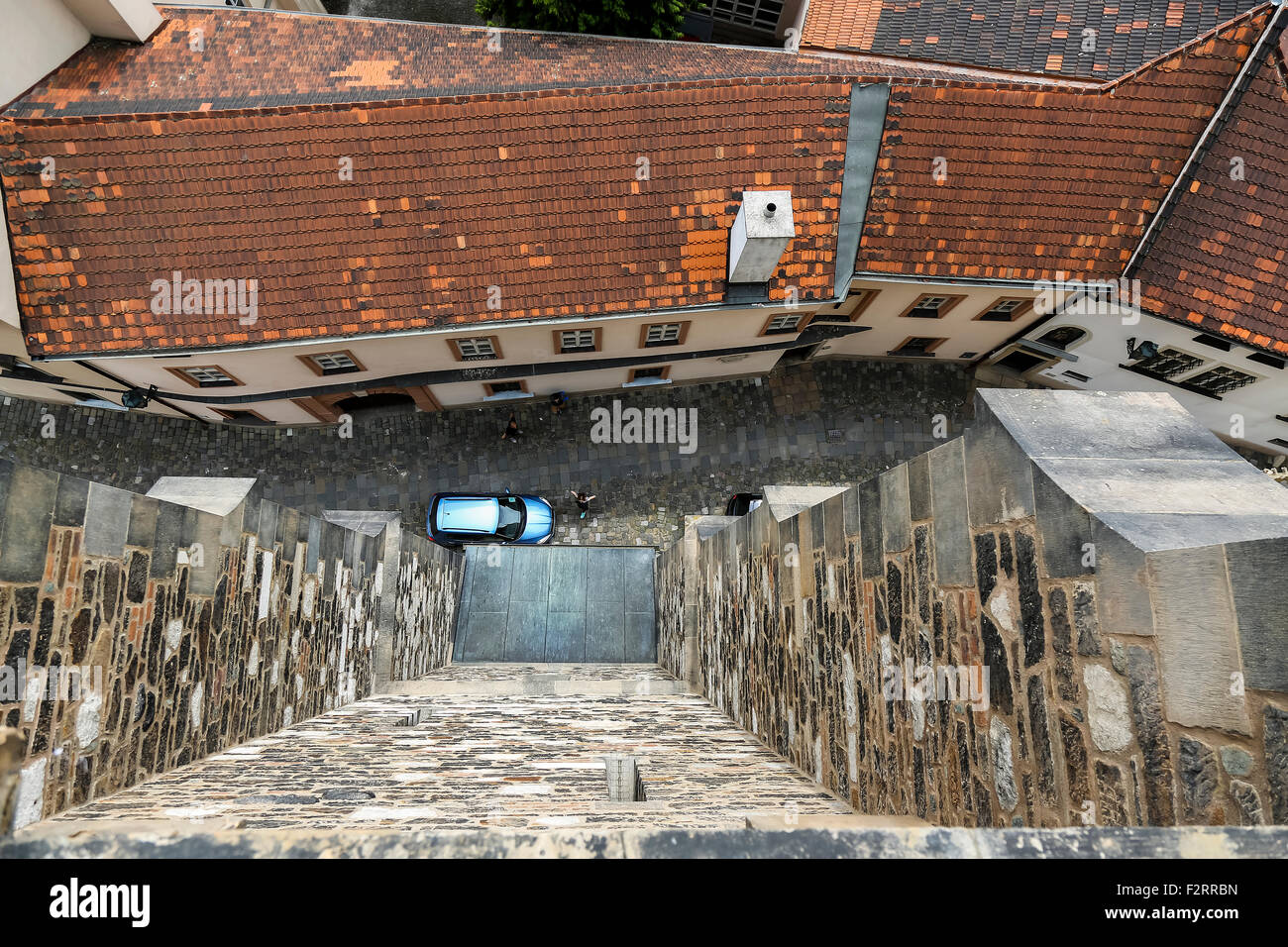 Brno vertical street view - Stock Image