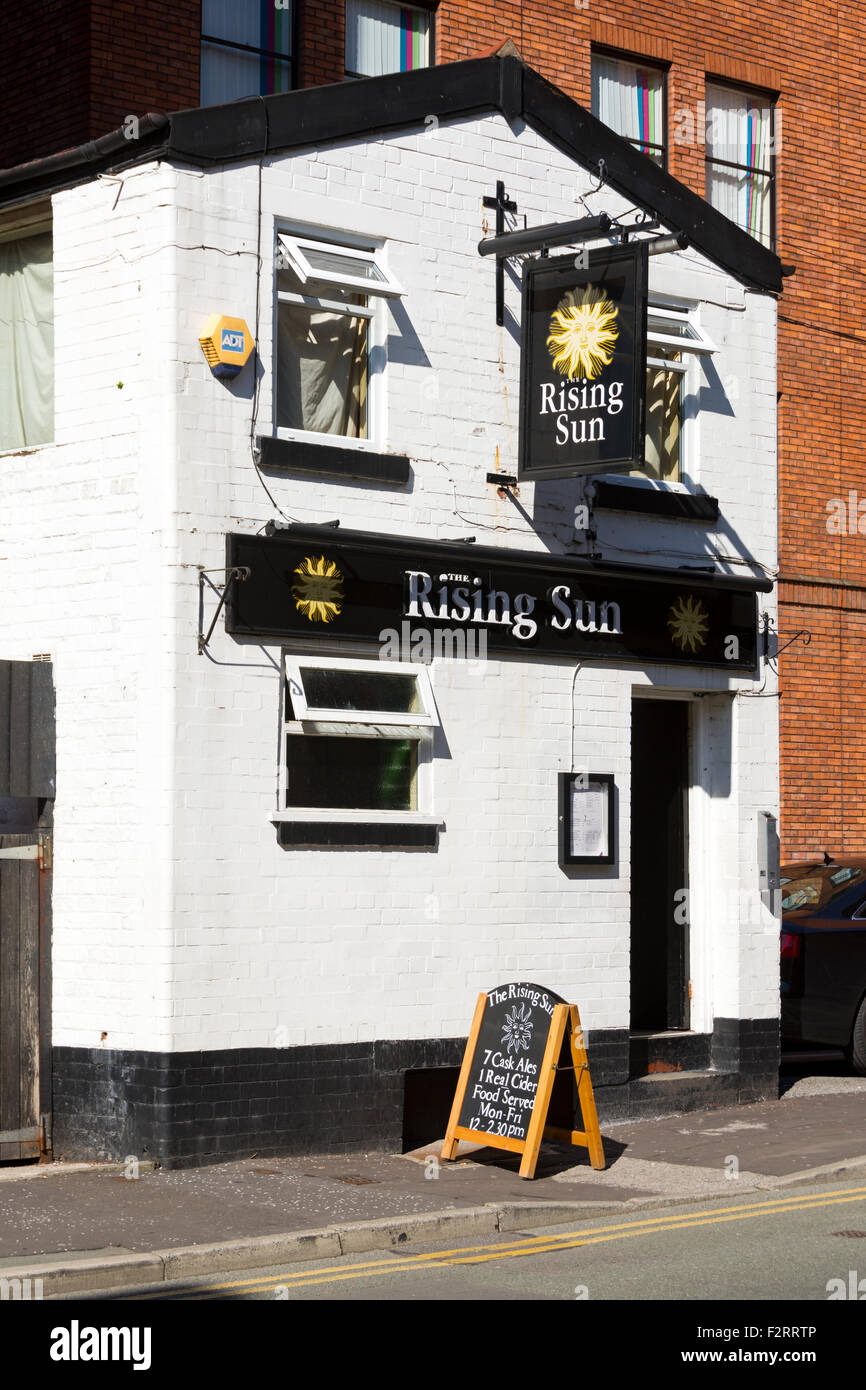 The Rising Sun public house, Lloyd Street, Manchester, England, UK - Stock Image