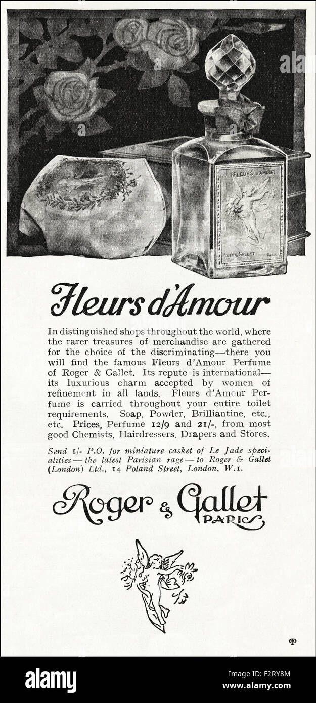 1920s Advertisement Advert Dated 1923 Advertising Fleurs D Amour