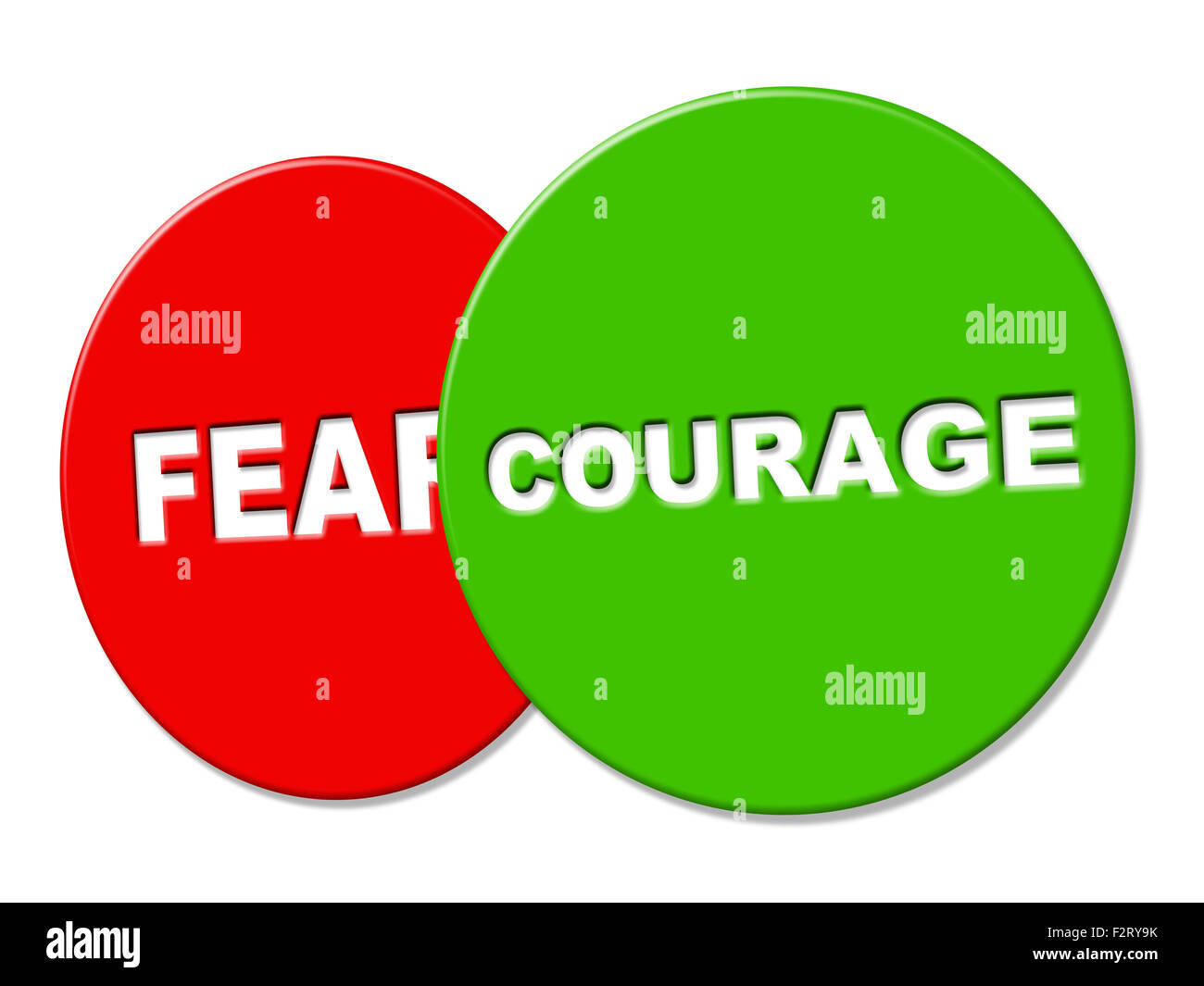 Courage Sign Showing Advertisement Valour And Fearlessness Stock Photo