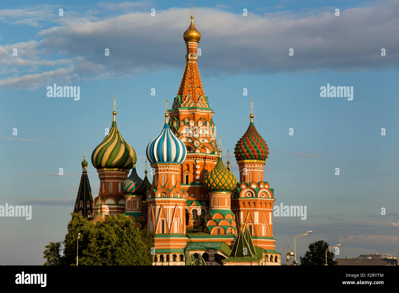 Onion Domes Of St Basil S Cathedral In Moscow Stock Photo