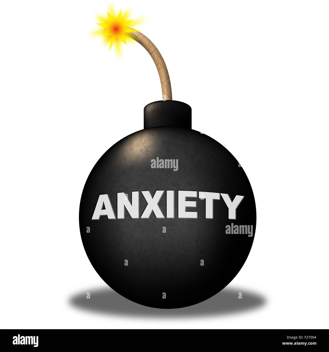 Anxiety Warning Representing Worry Angst And Apprehensiveness Stock Photo