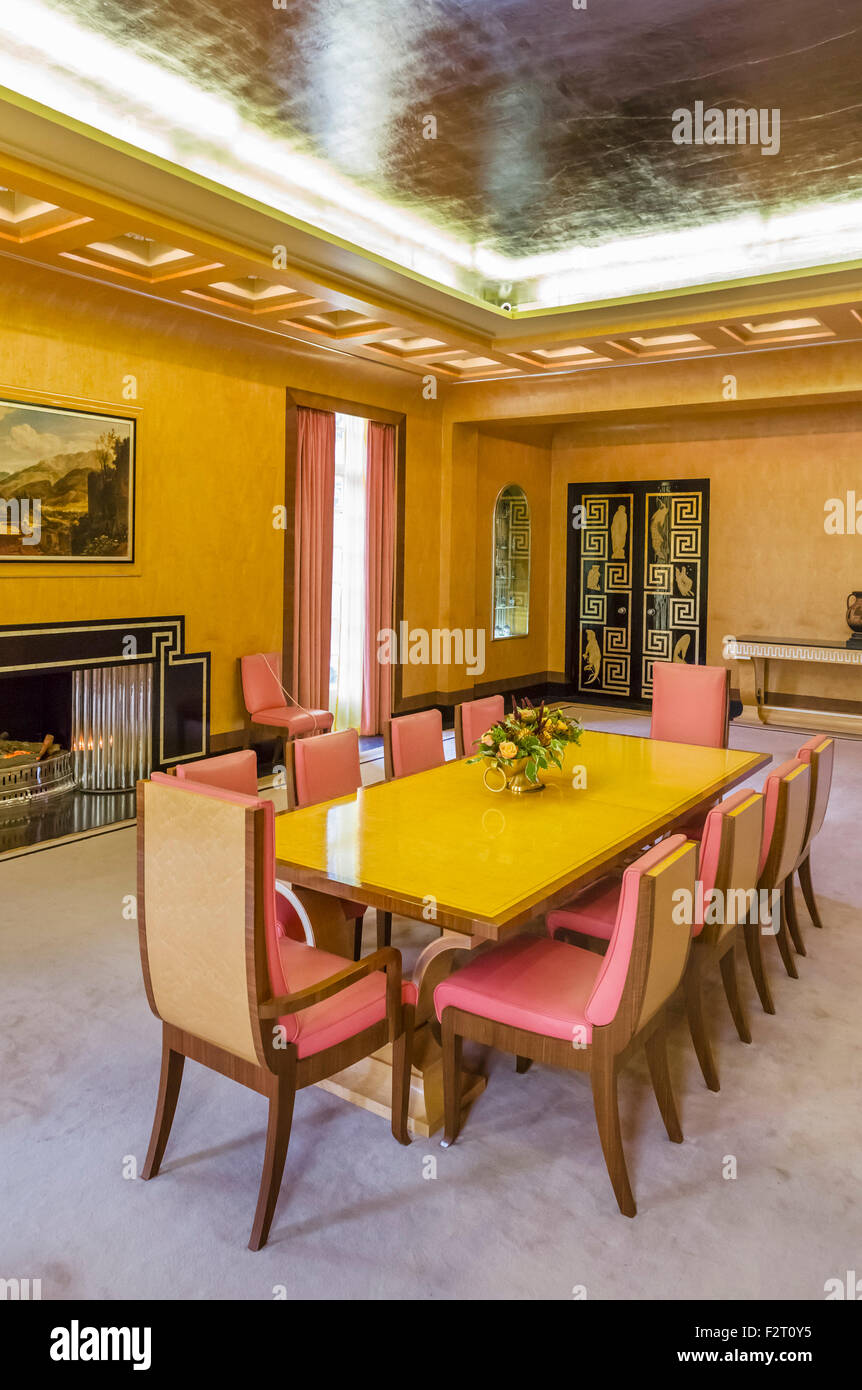 Art deco dining room in Eltham Palace, the former home of Stephen ...