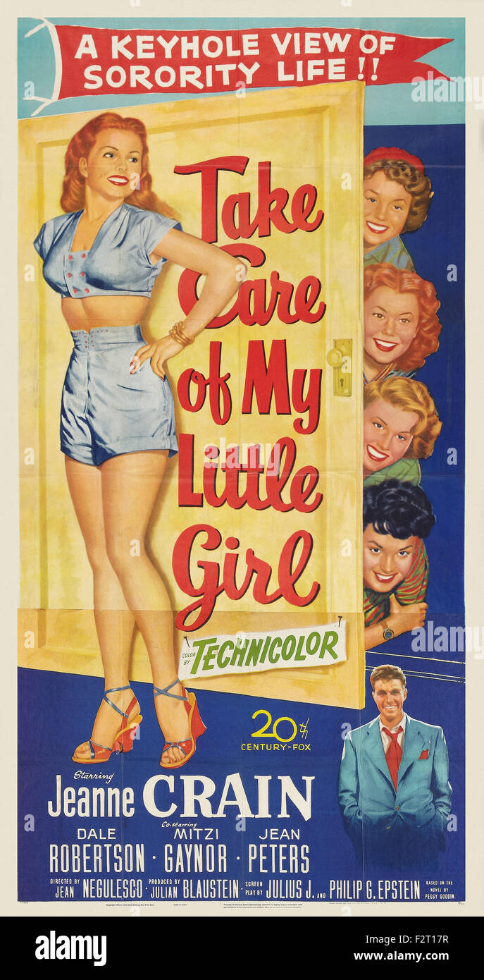 Take Care of My Little Girl - Movie Poster - Stock Image