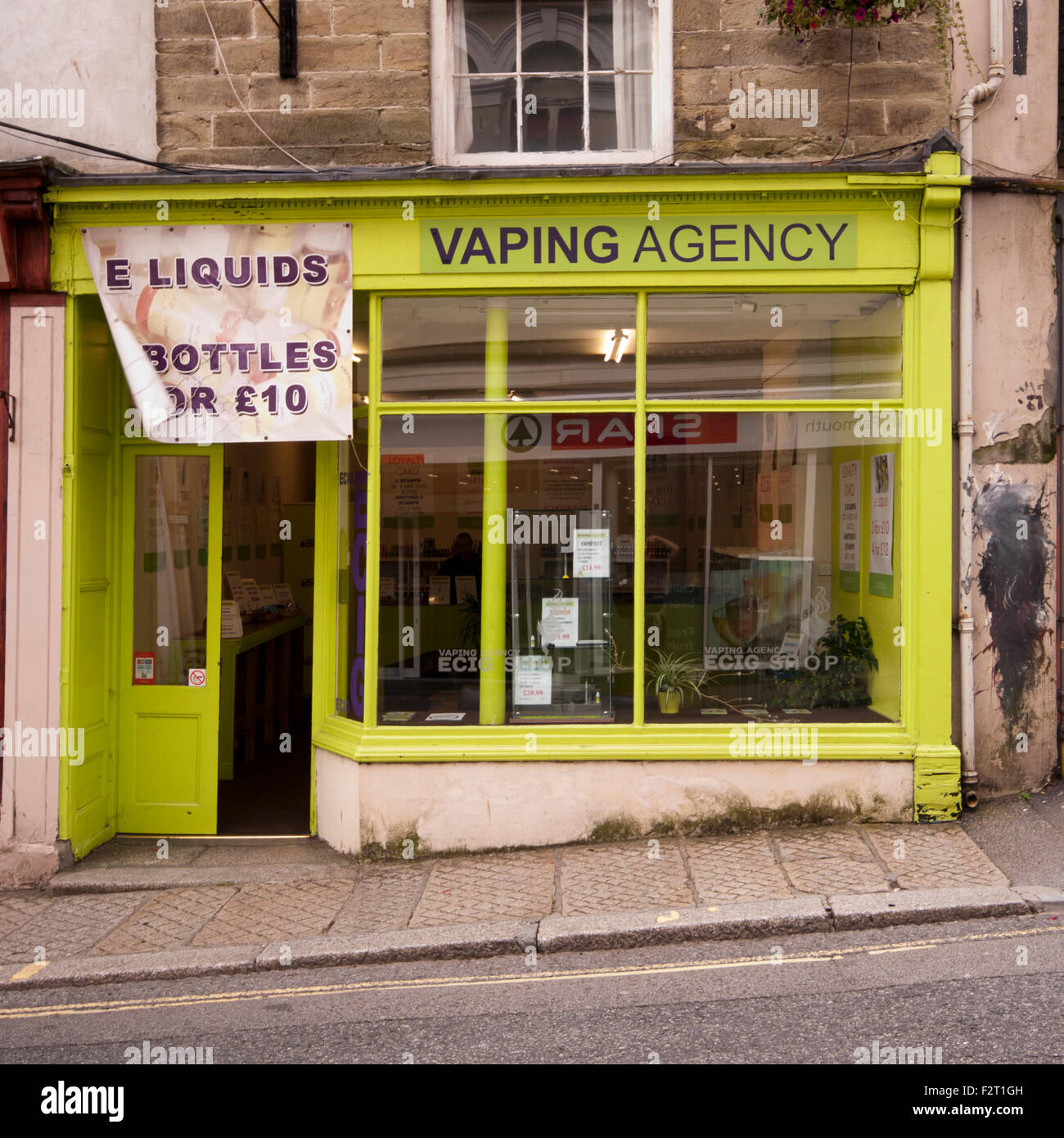 Vaping E Cigarette Shop - Stock Image