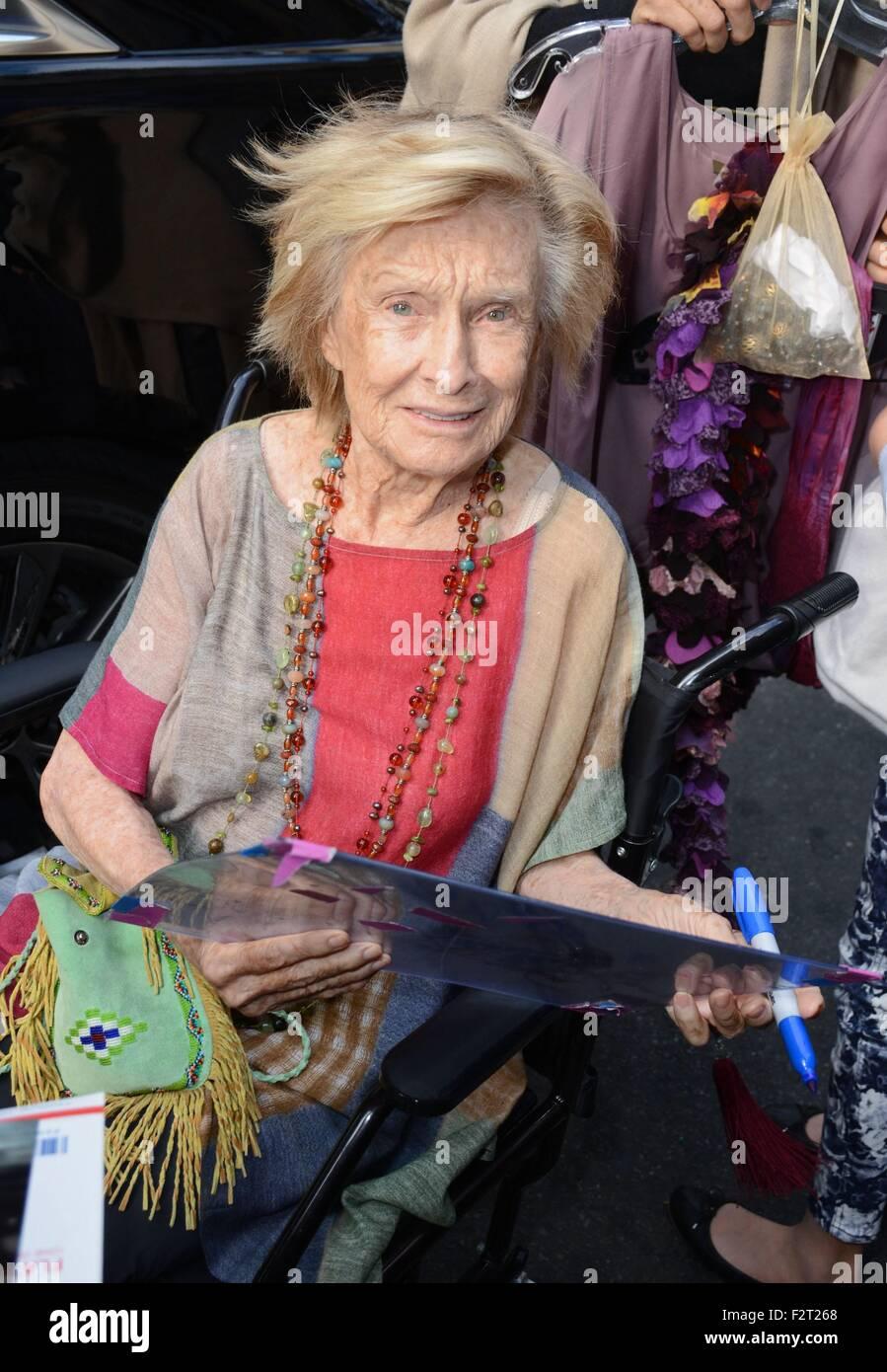 New York NY USA 23rd Sep 2015 Cloris Leachman at the