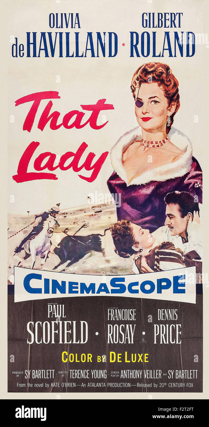 That Lady (1955) - Movie Poster - Stock Image