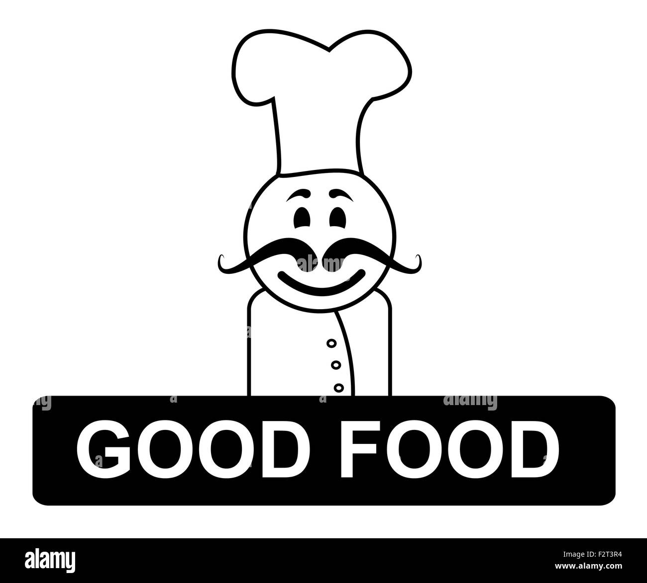 Good Food Chef Meaning Cooking In Kitchen And Recipes Stock