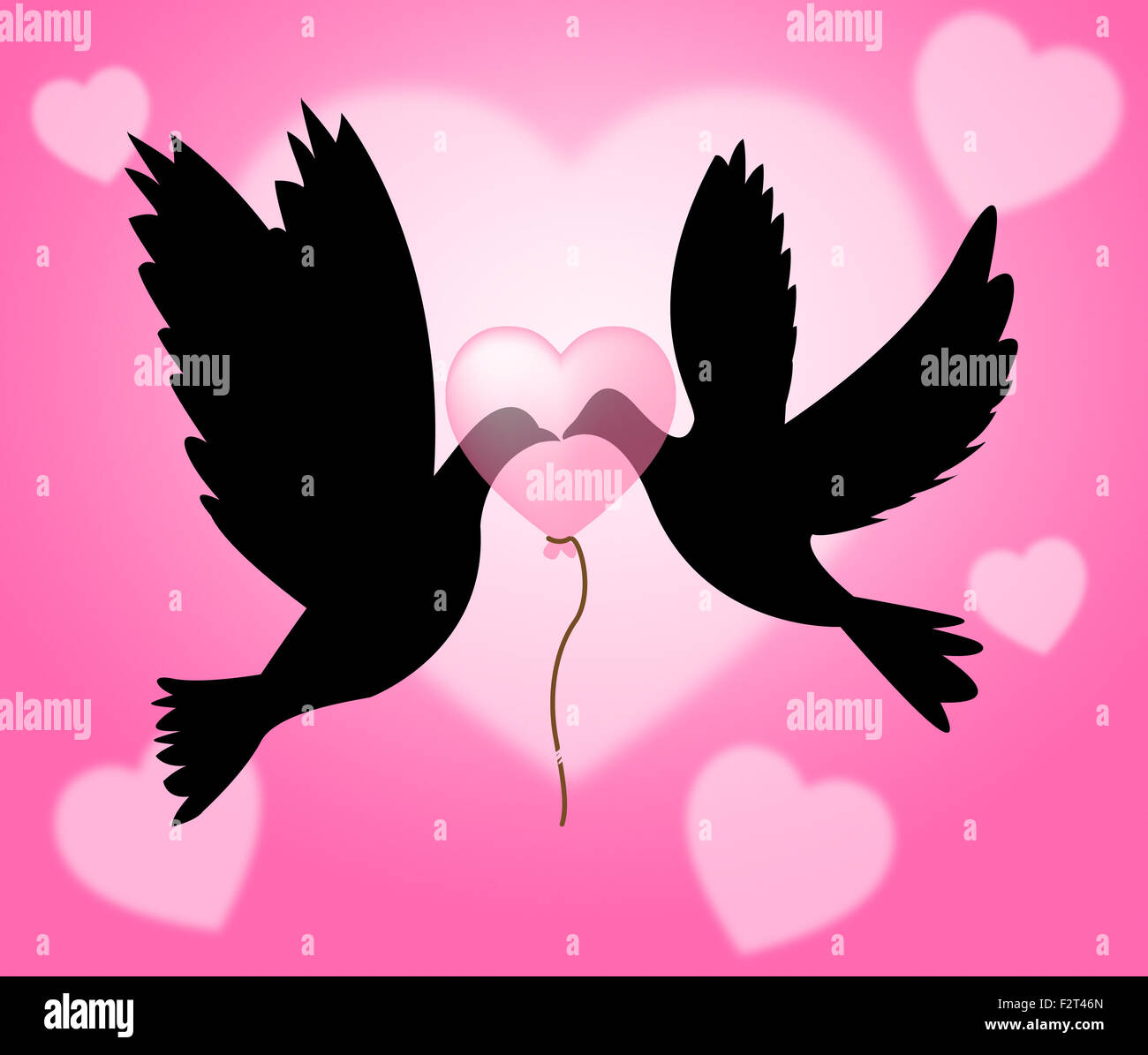 Peace Doves Meaning Love Not War And Flock Of Birds Stock