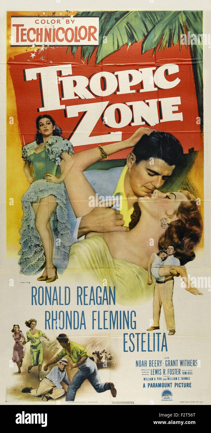Tropic Zone - Movie Poster - Stock Image