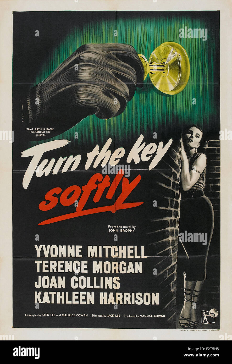 Turn the Key Softly - Movie Poster - Stock Image