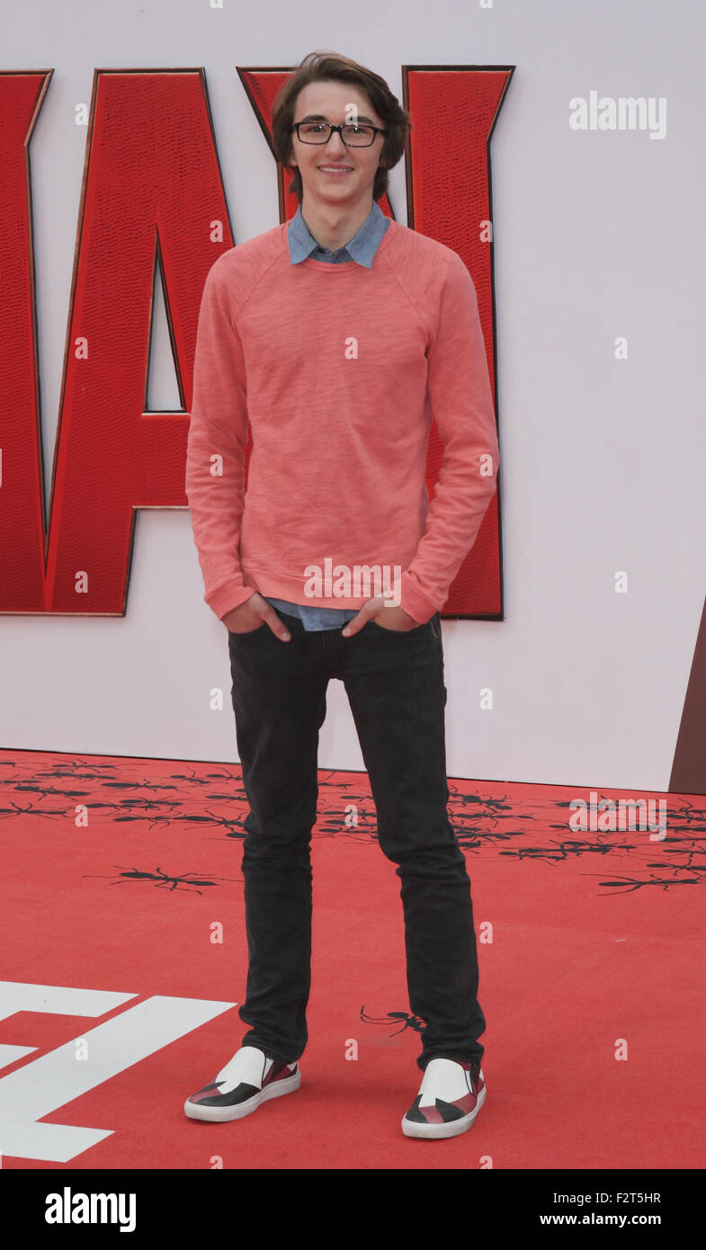 LONDON, UK, 8th July 2015: Isaac Hempstead Wright attends the Ant-Man - European premiere at the Odeon Leicester - Stock Image