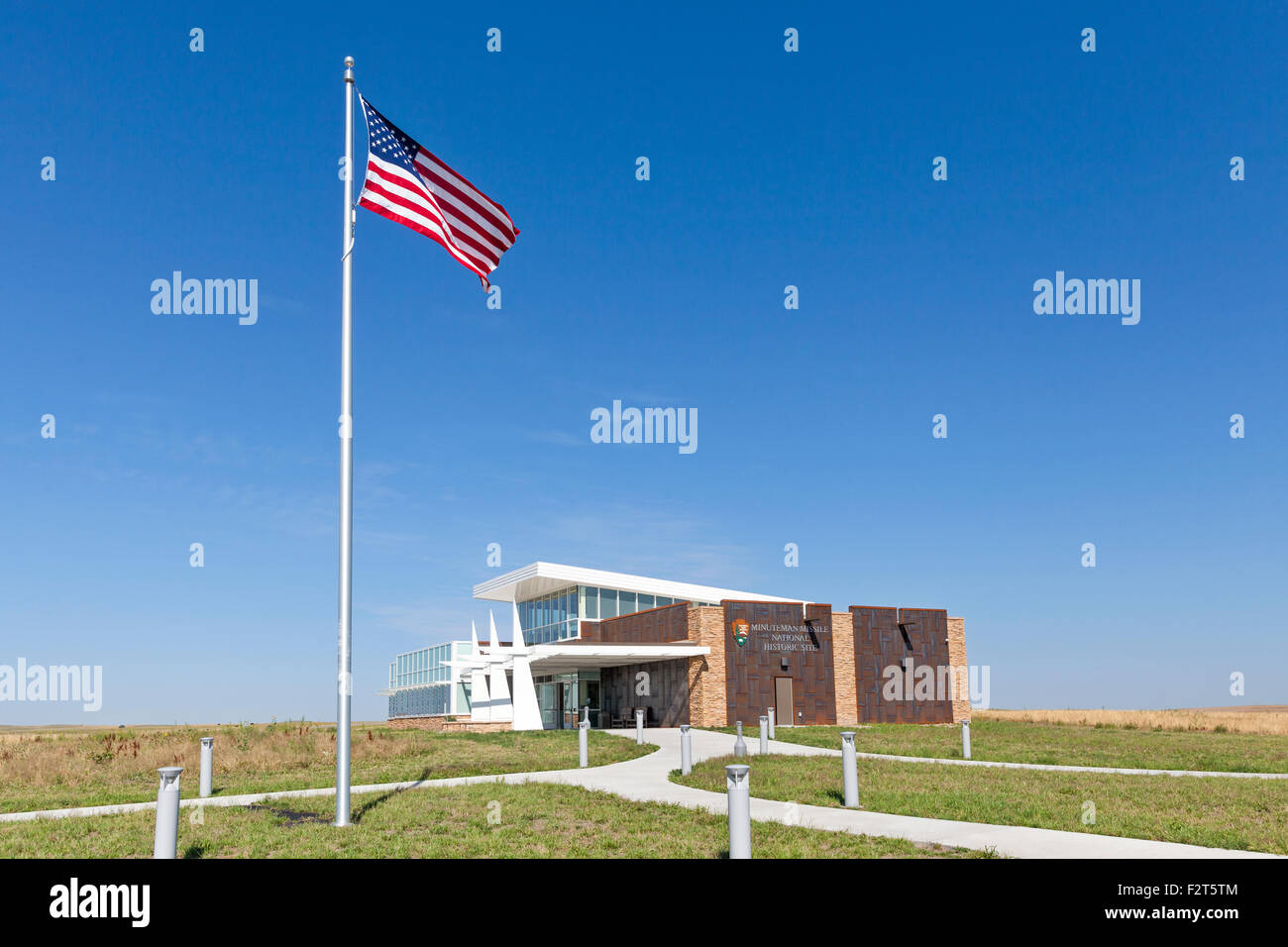 Minuteman Nuclear Missile National Historic Site South Dakota - Stock Image