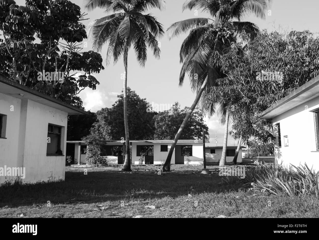 Deserted beach dwelling, Matanzas, Cuba - Stock Image