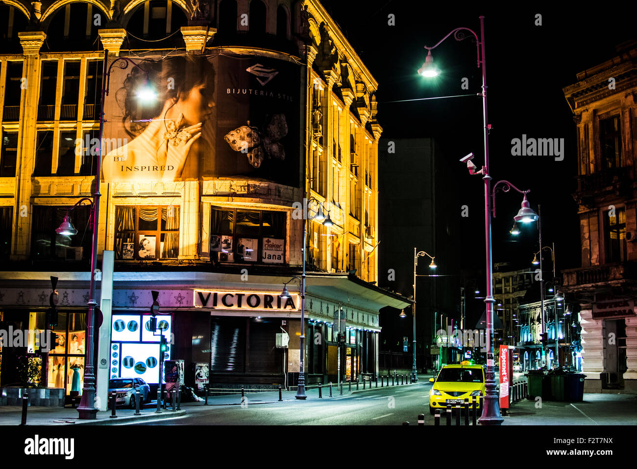 Old Victoria Commercial Center - Calea Victoriei, Bucharest, Romania - Stock Image