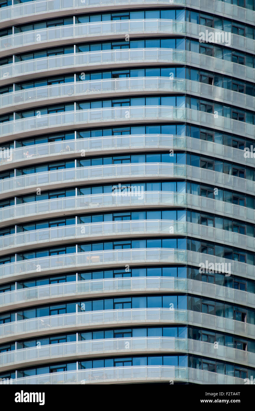 apartment building closeup - Stock Image