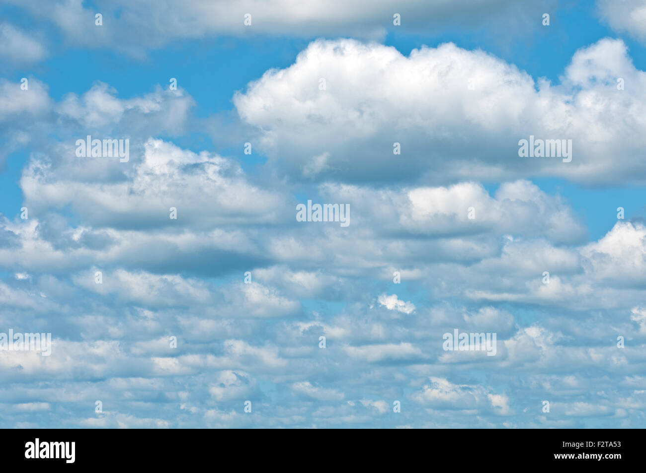 Summer clouds - Stock Image