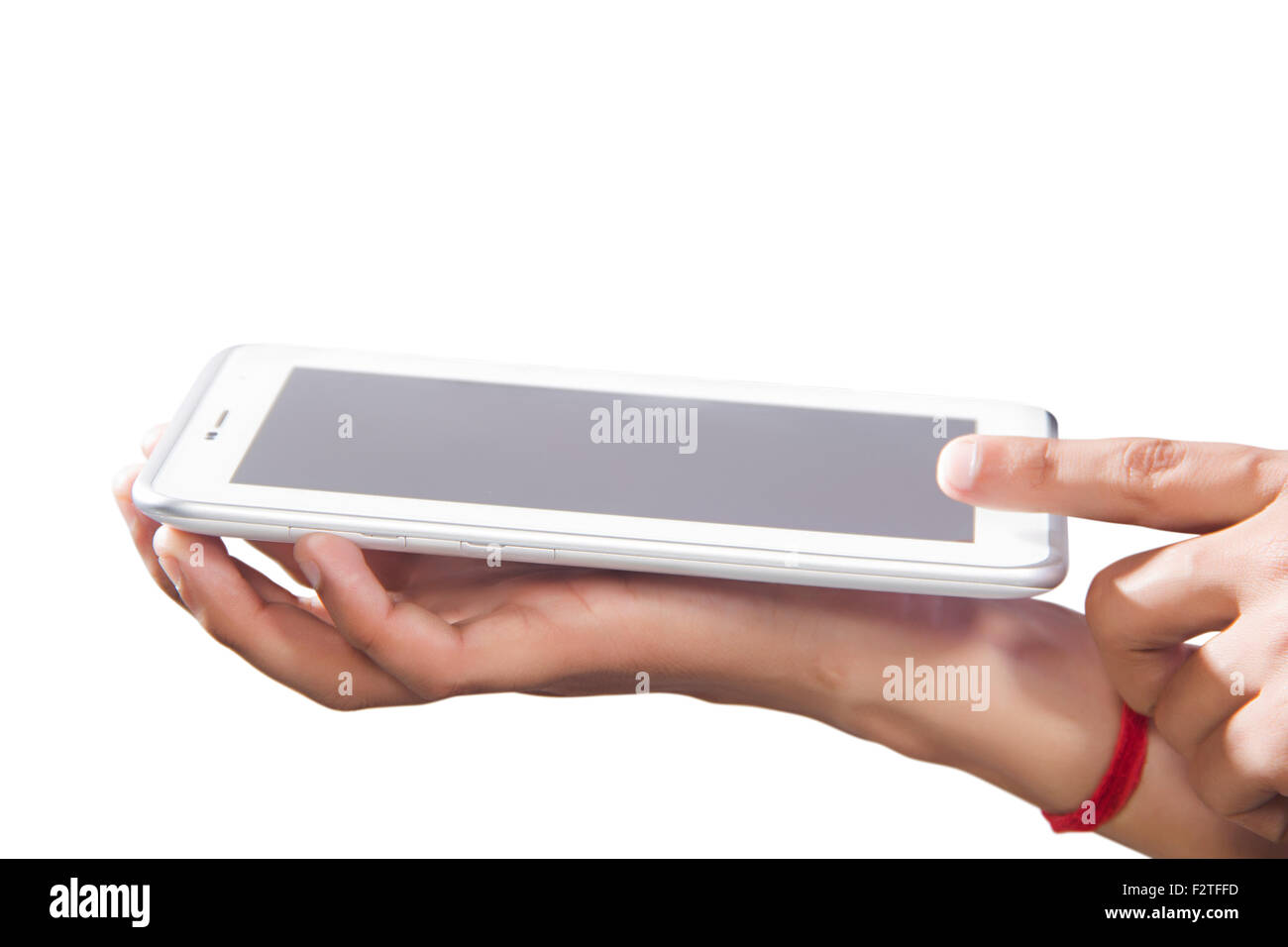 1 Adult Man Digital Tablet Technology - Stock Image