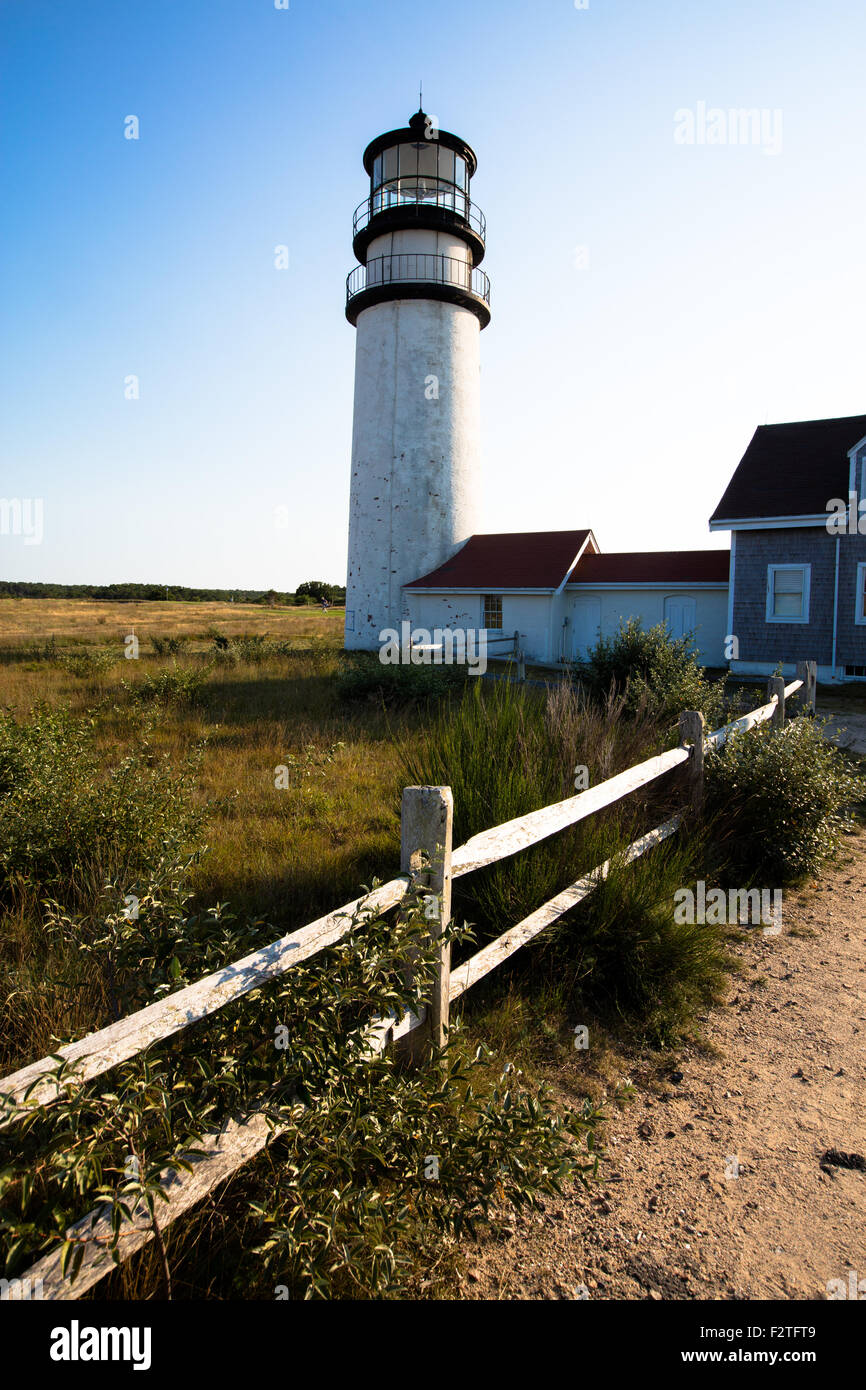 Lighthouse in Cape cod, Massachussetts - Stock Image