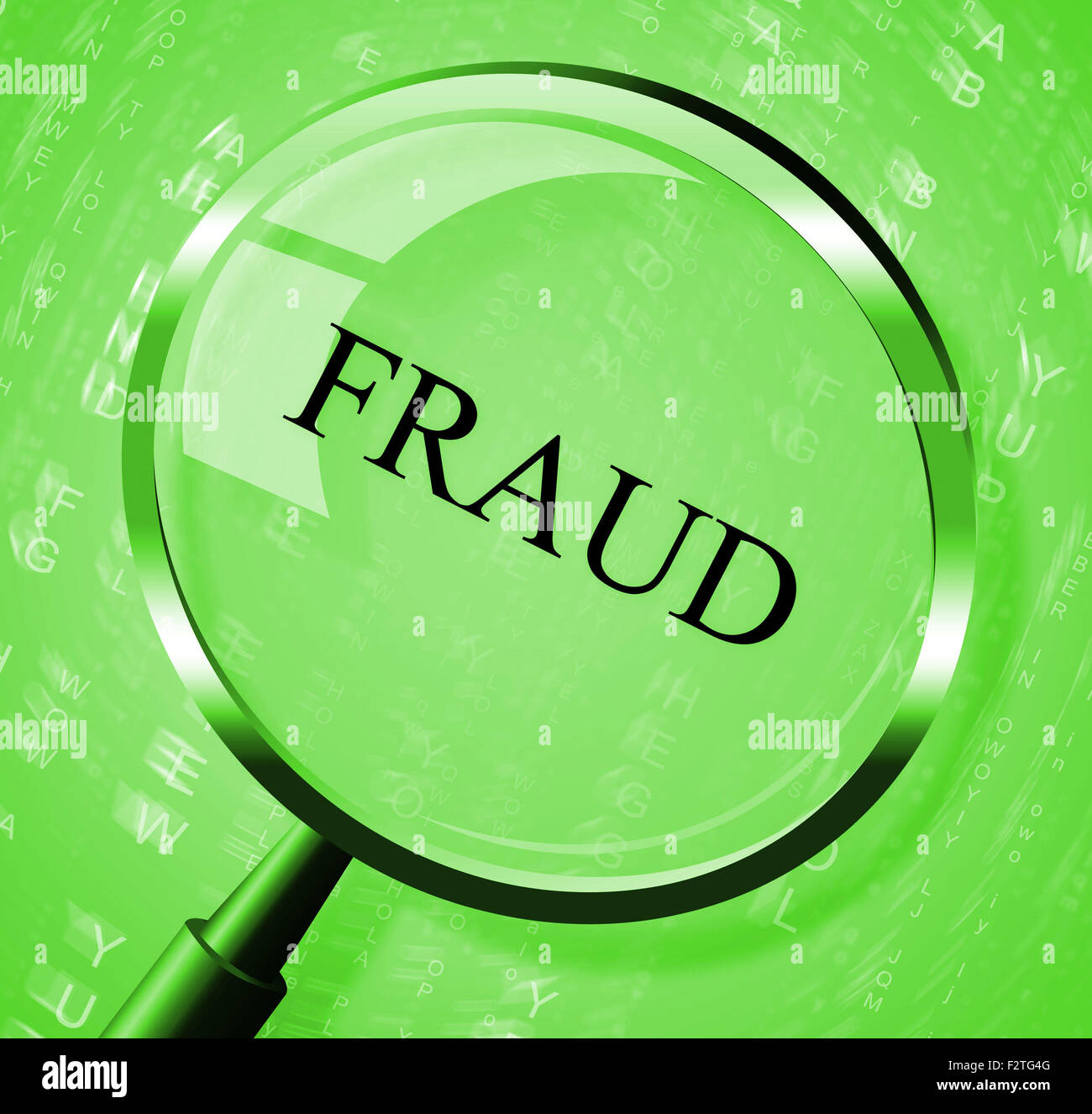 Fraud Magnifier Meaning Rip Off And Scamming Stock Photo: 87820672