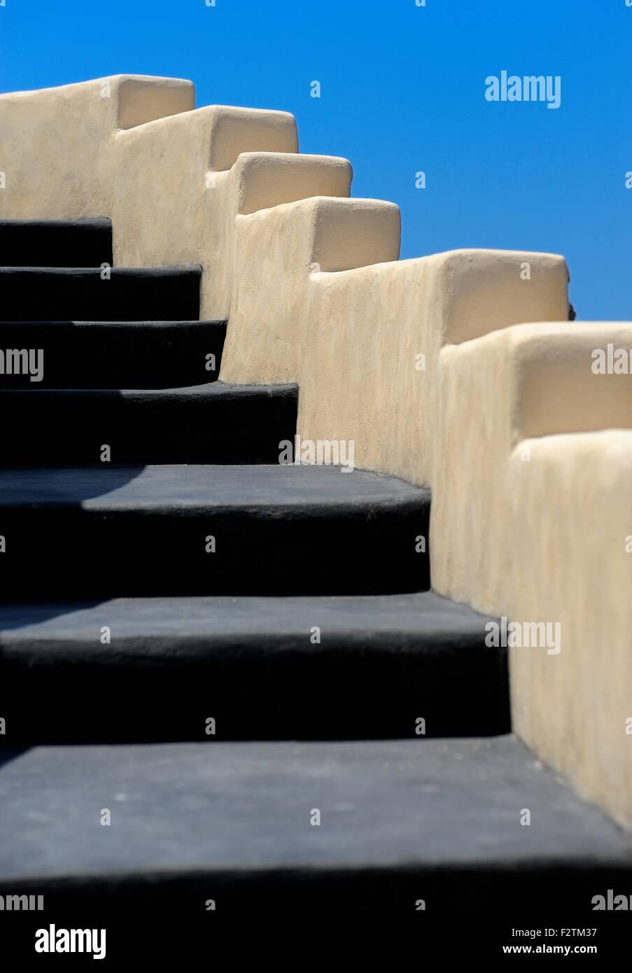 Black Painted Steps Santorini Greece Stock Photo 87823771 Alamy