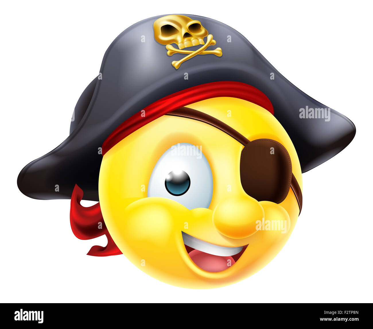 a pirate emoji emoticon smiley face character wearing a Fax Icon Vector Address Icon Vector