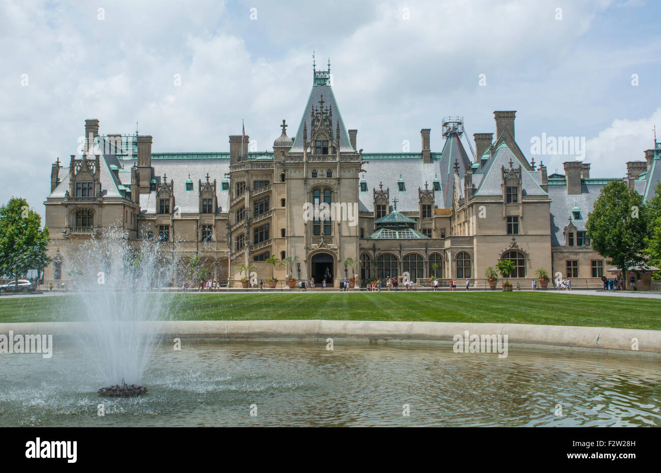 Asheville North Carolina historic Biltmore Estate home of Vanderbilt in 1895 largest private home in the USA - Stock Image