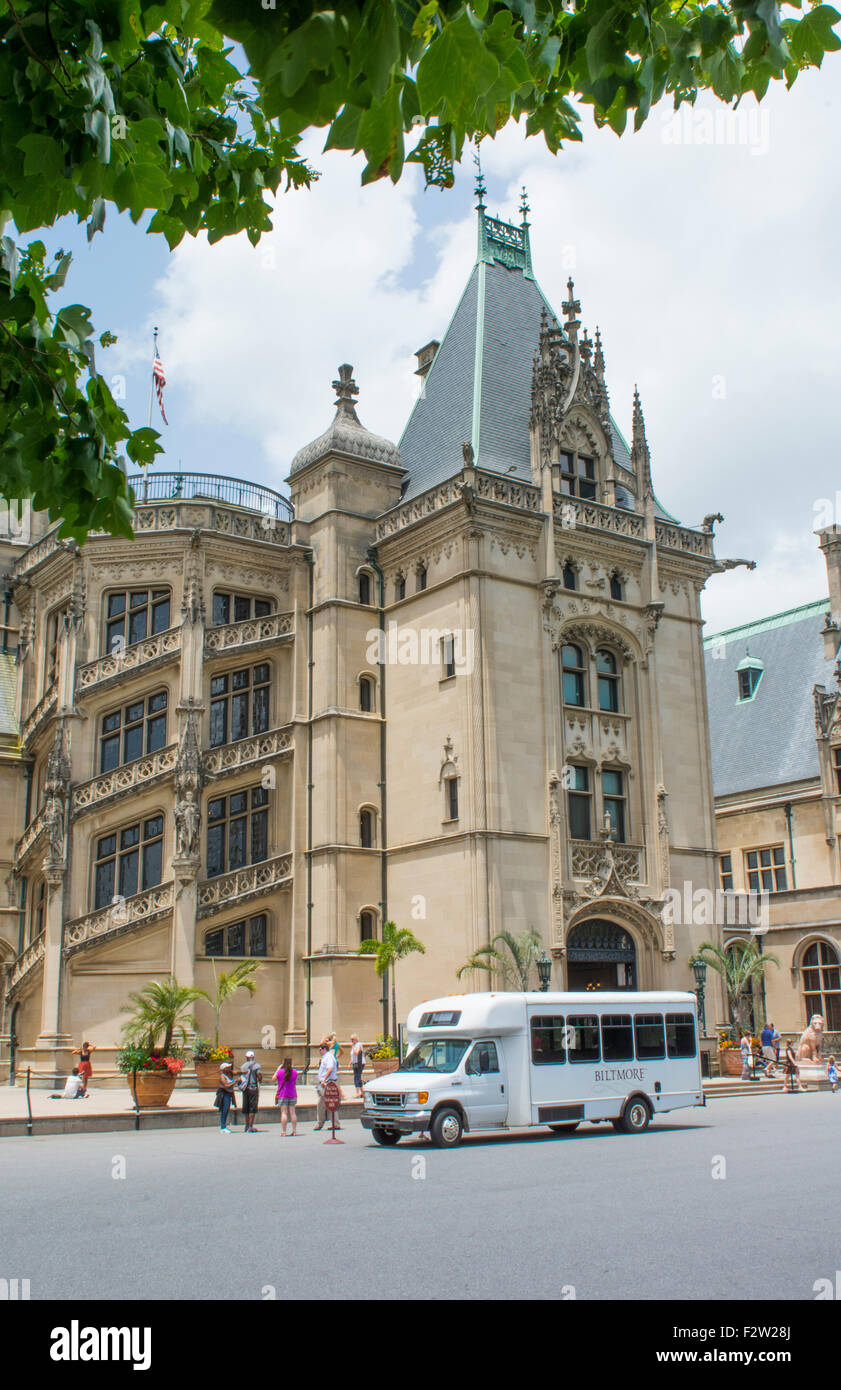 Asheville North Carolina historic Biltmore Estate home of Vanderbilt in 1895 largest private home in the USA Stock Photo