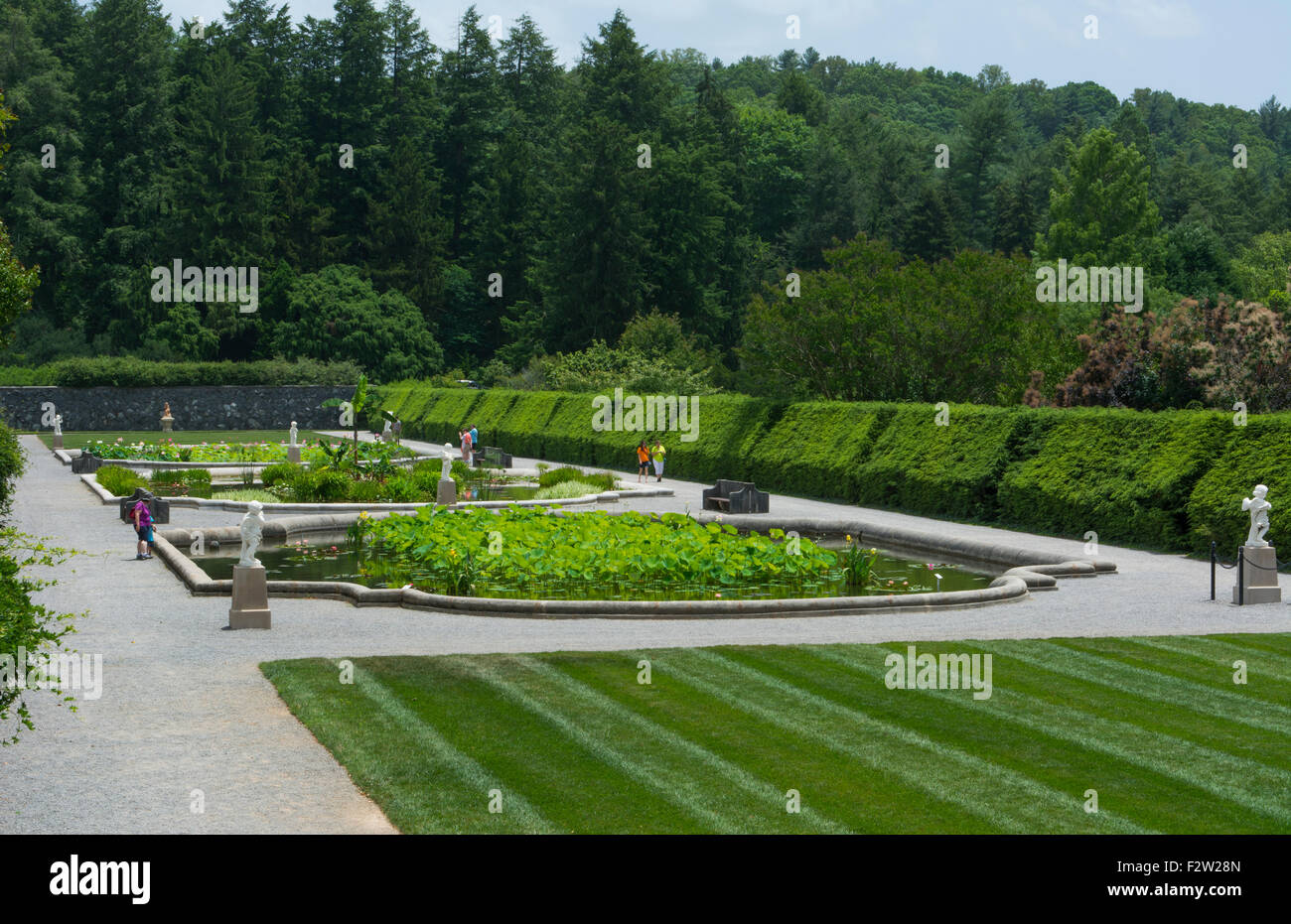 Asheville North Carolina gardens of historic Biltmore Estate home of Vanderbilt in 1895 largest private home in - Stock Image