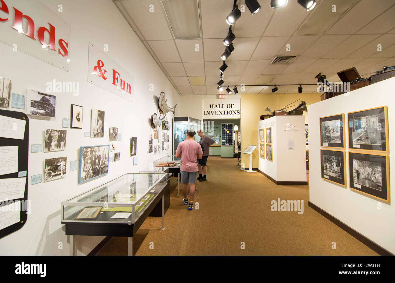 Thomas Edison inventor home and museum in Ft Myers Florida inventions room - Stock Image