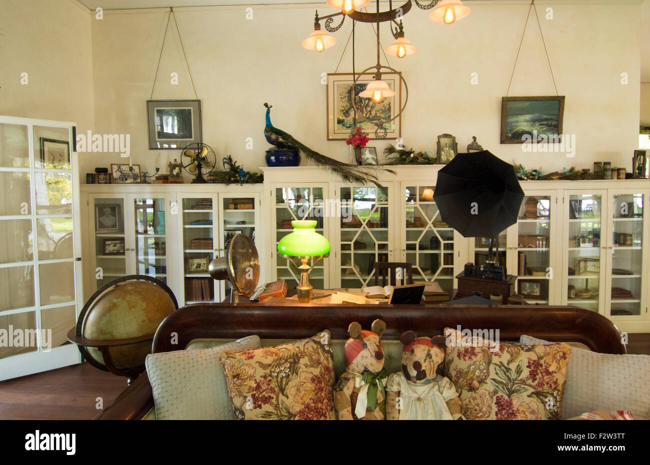 Thomas Edison inventor home and museum in Ft Myers Florida living room - Stock Image