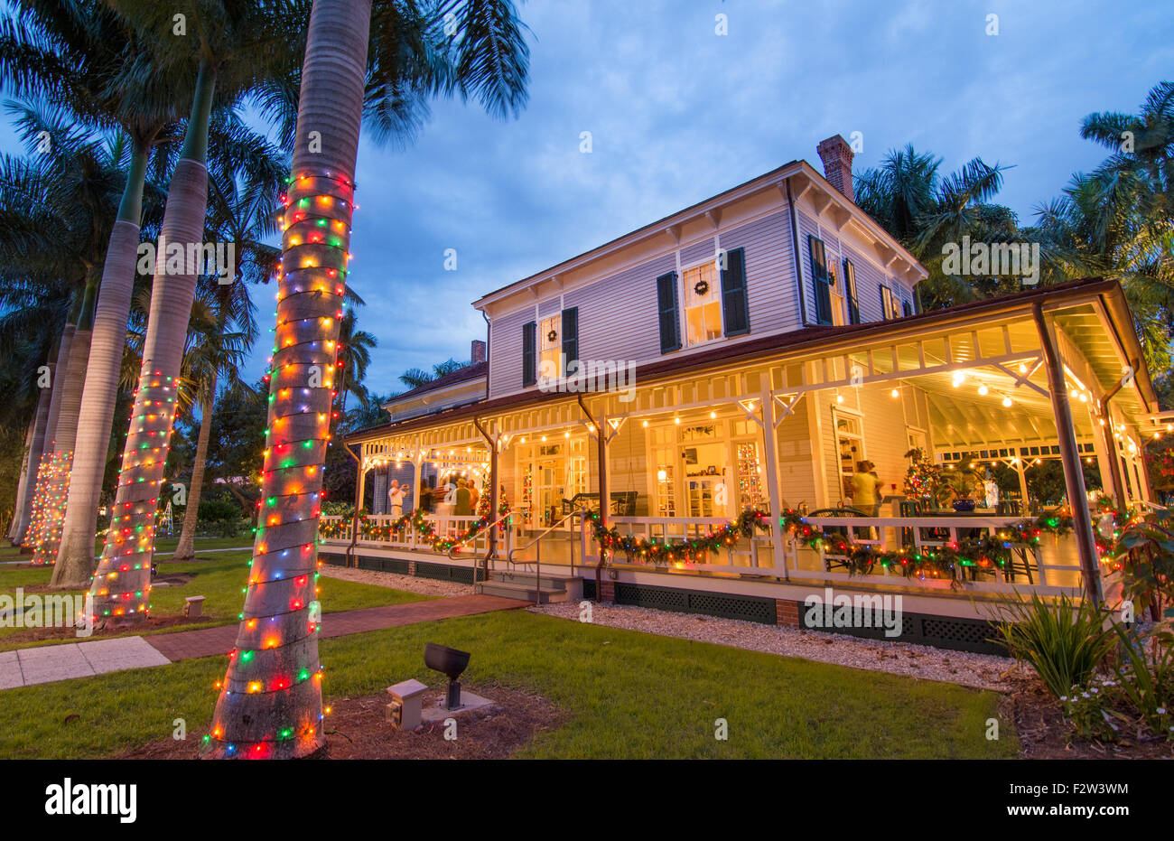 Edison Summer Home Florida Christmas 2020 Thomas Edison inventor home and museum in Ft Myers Florida